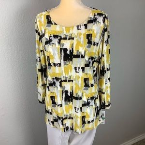 JM Collection gold mod block top Lg NWT